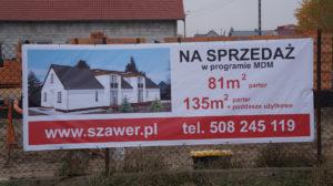 Leszno ul. Wesoła - domy w zabudowie bliźniaczej